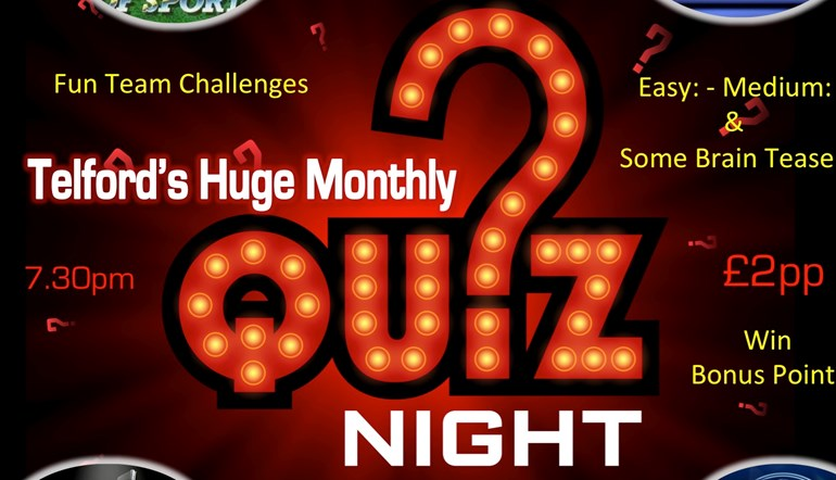 Telford's Huge Monthly Quiz Night