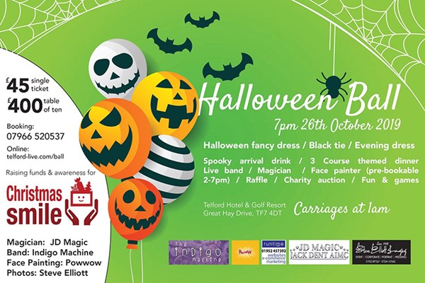 Charity Halloween Ball Raising Money For Christmas Smiles