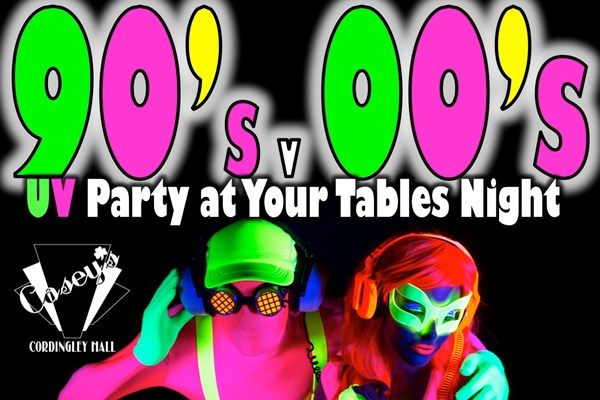 Glow Party At Your Table 90s Vs 00s
